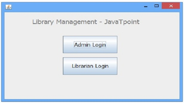 Library Management System in Java Using Core Java Swing - Being Study